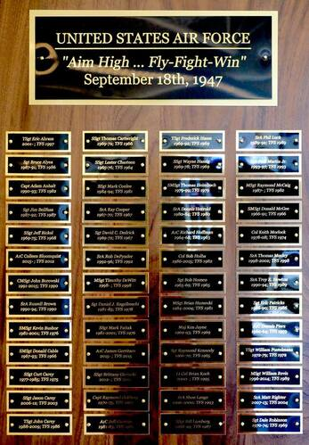 Air Force Perpetual Plaque