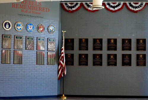 Completed Wall of Honor